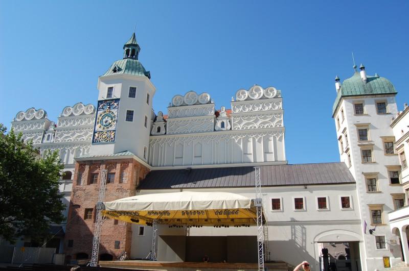 Im Hof des Schlosses der Pommerschen Herzöge