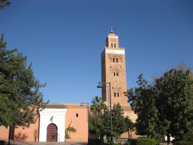 Ehrwürdige Koutoubia-Moschee in Marrakech
