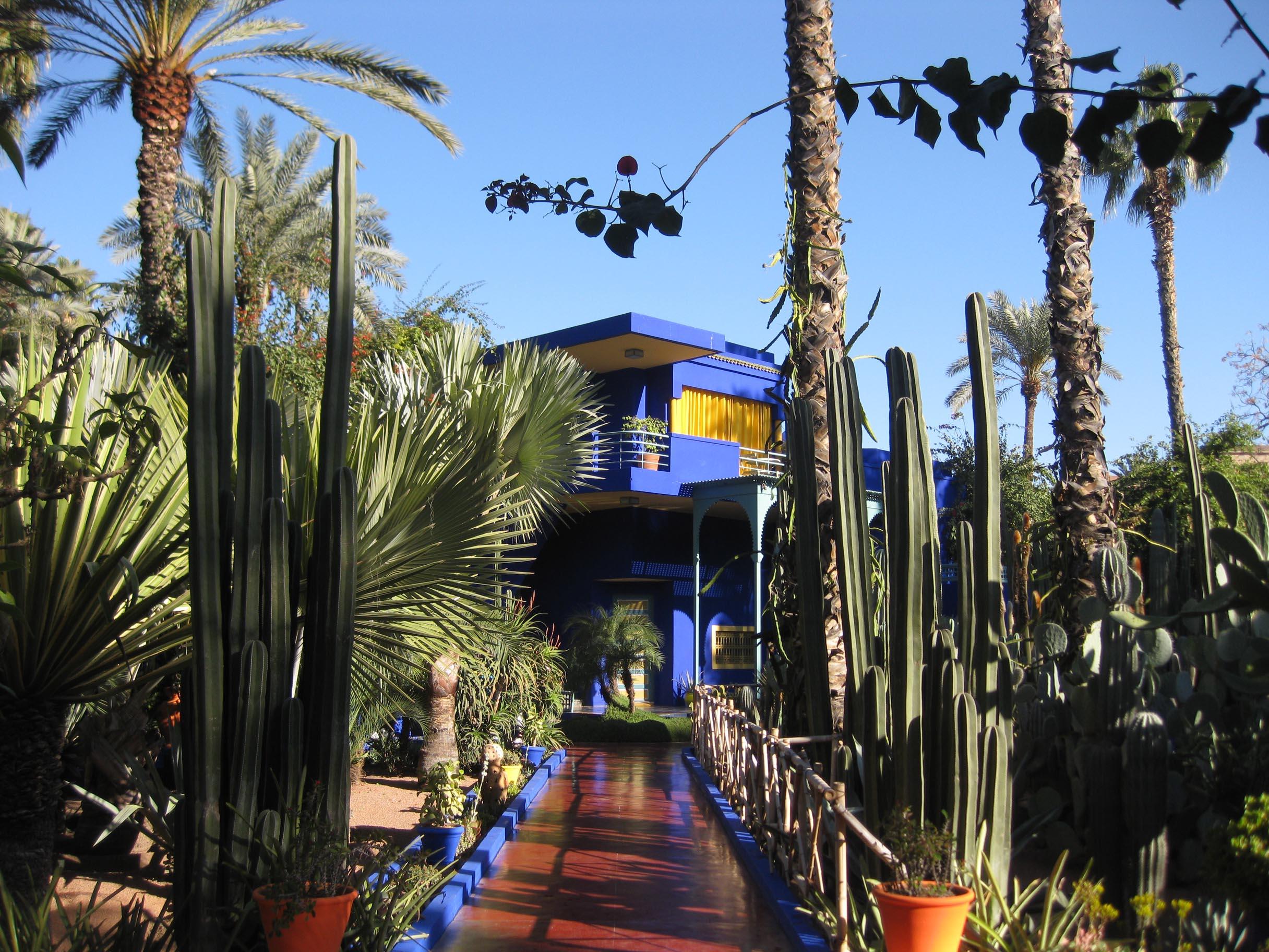Marokko reisezeit - Yves saint laurent jardin majorelle ...