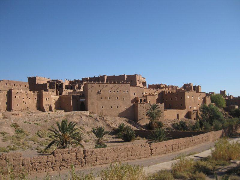 Kasbah Taourirt in Ouarzazate - von außen groß, von innen verwinkelt