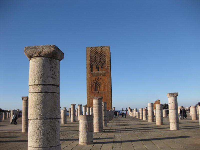Der Hassan-Turm. Wahrzeichen Rabats und Überbleibsel einer einst gewaltigen Moschee.