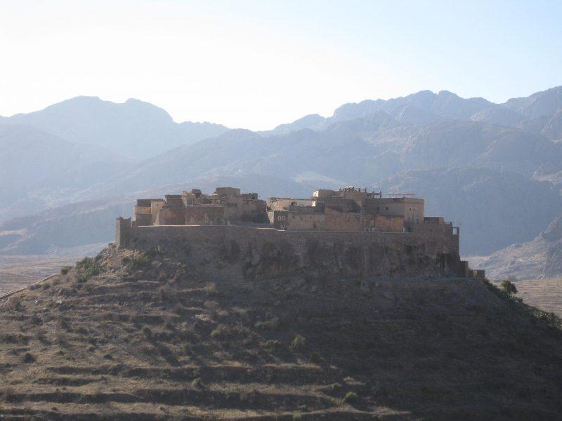 Kasbahs gibt es auch im Süden - hier in der Nähe von Tafraoute