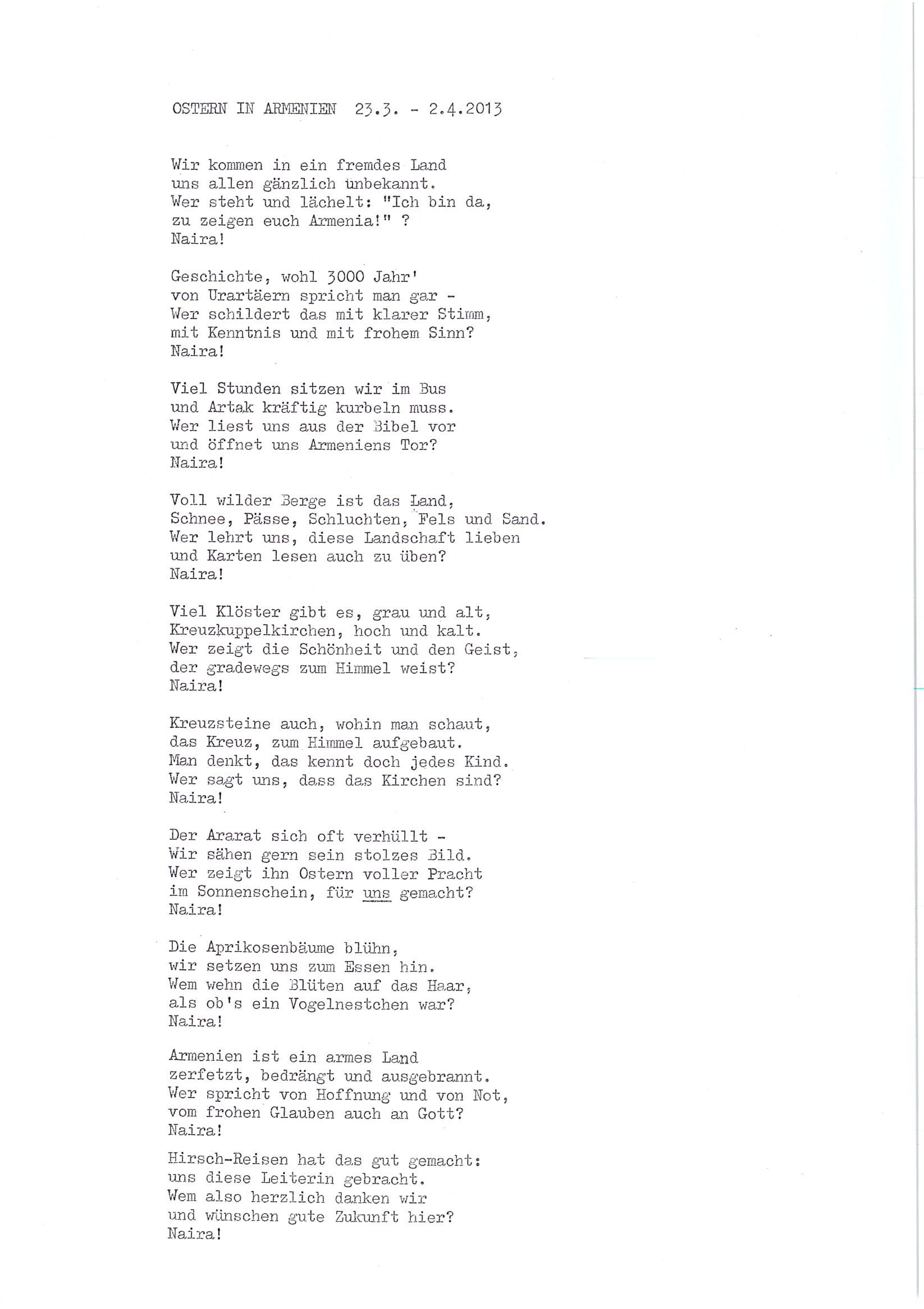 Das Endergebnis Gedicht