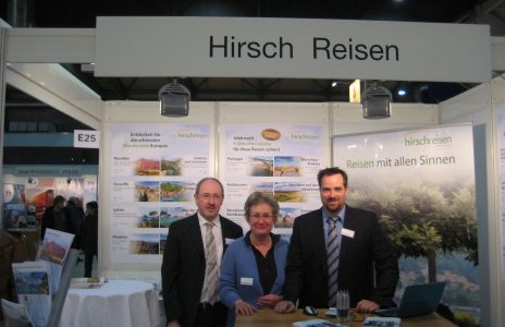 Das Hirsch Messe Team v.l.n.r. Mathias Hirsch, Elke Albrecht-Hirsch, Oliver Possehl