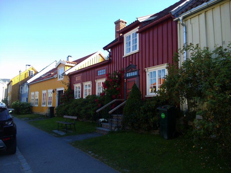 Holzhäuser in Trondheim