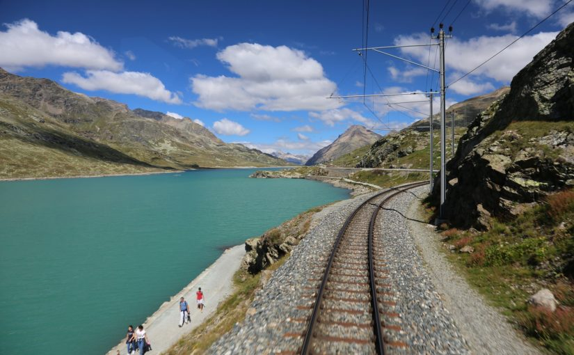 Allegra im Bernina Express