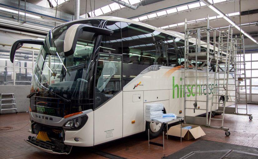 Sicherheit geht vor – neue Aktivfilter in Hirsch Bussen